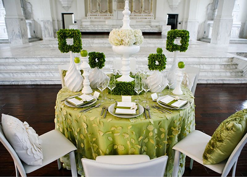 green wedding table