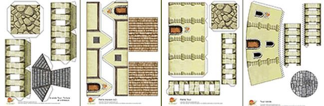 Free O Scale Gazebo Paper Template French Medieval