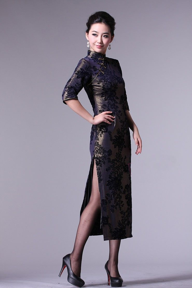 3/4 Sleeve Chinese Qipao / Cheongsam Evening Dress   Cheongsam ...