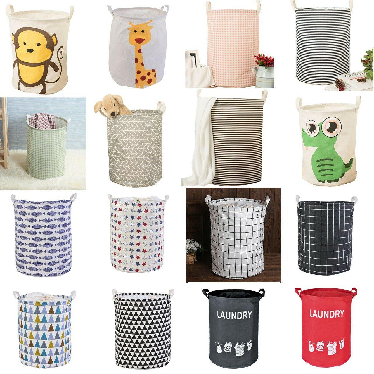 Usa Laundry Basket Bag Foldable Cloth Linen Washing Clothes Hamper