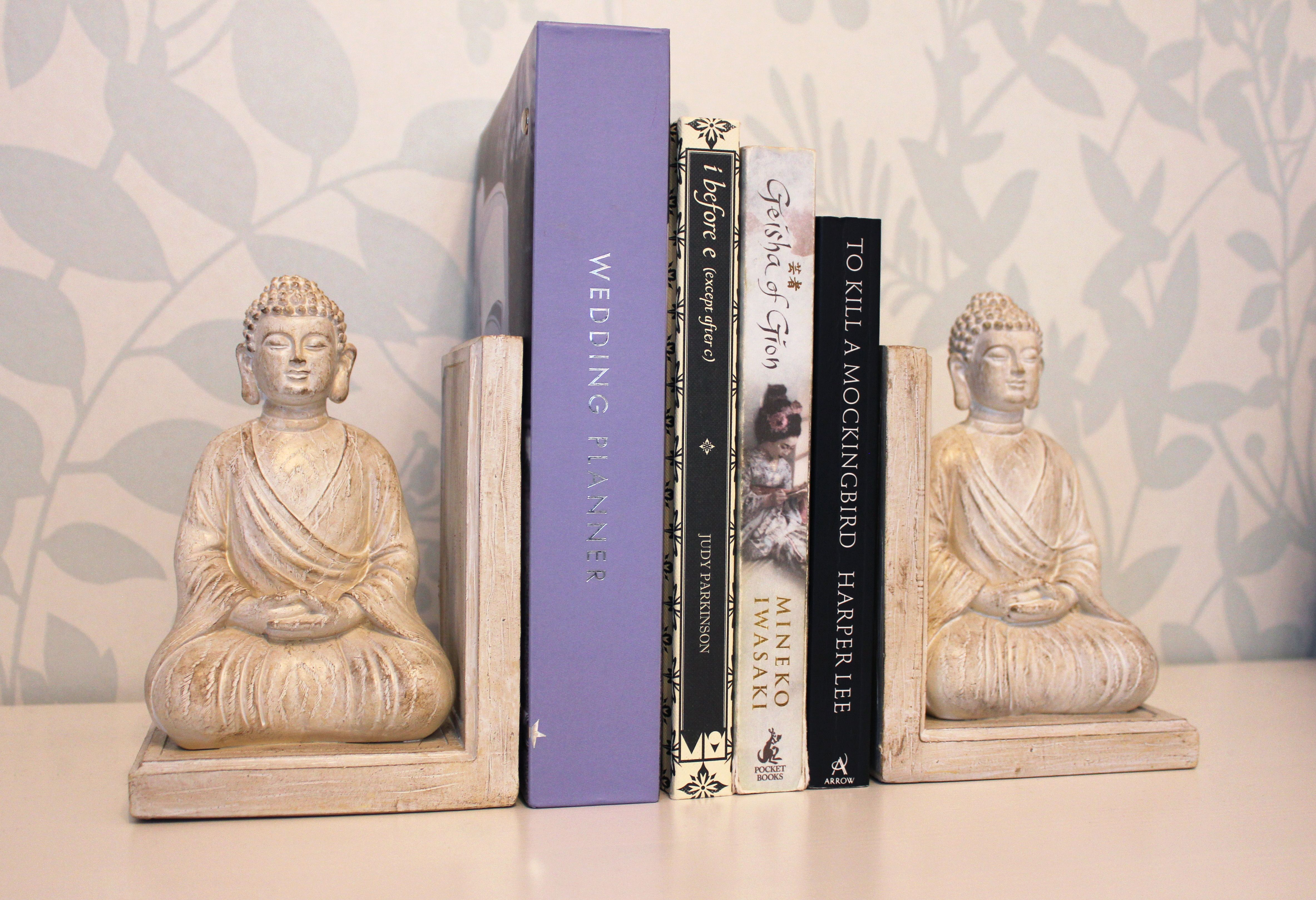 Buddha bookends!