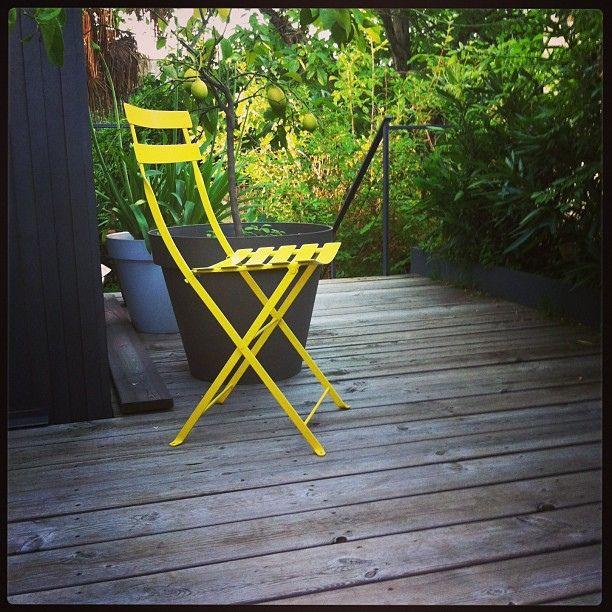Hello Morning Lachaiseetaitjaune Sunnyday Fermob Outdoor Chairs Outdoor Decor