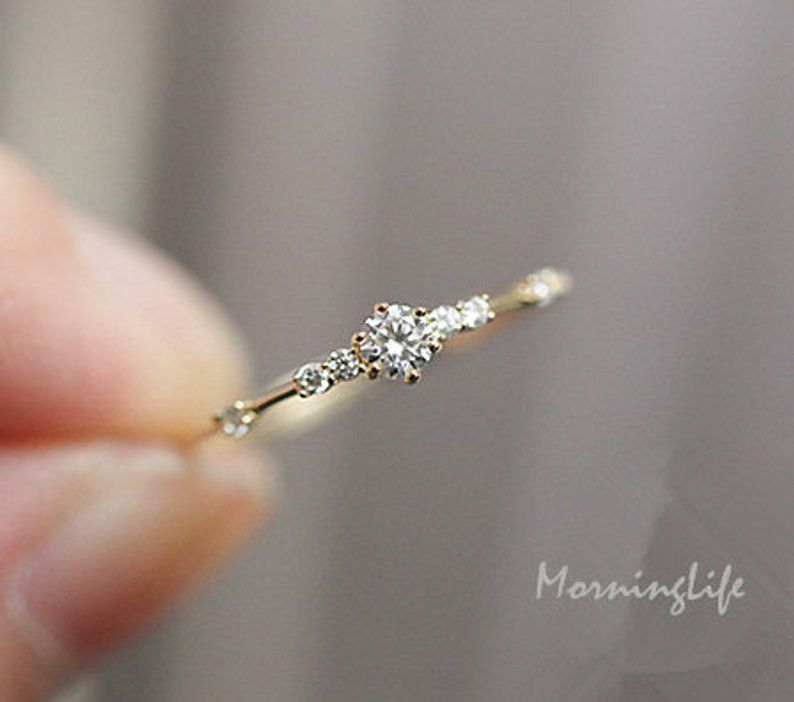 Petite Round Crystal Rings Sterling Silver Minimalist Ring Bohemian Style Crystals Crystal Rings Silver Jewellery Gypsy Jewellery