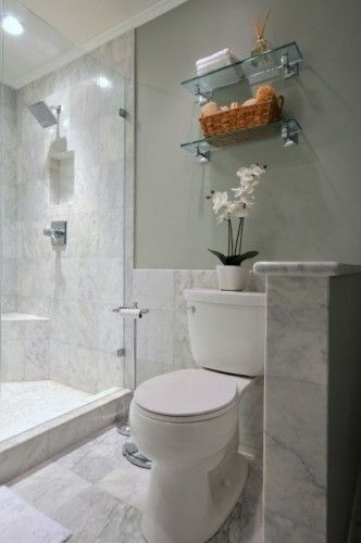 Shower Tile Continued Behind Toilet Toiletries Niche Built In Above Shower Controls Bathroom