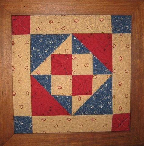 Quilt art- framed handmade patchwork quilt block with civil war reproduction fabrics. LOVE!! Sold by Tennessee Quilt Works on Etsy ♡
