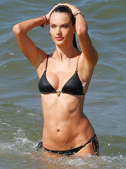 acb7399500 Kendall and Kourtney Out-Teeny Bikini Each Other (and More Sizzling Celeb  Swimwear Pics)   ALESSANDRA AMBROSIO   Oh, that's why she gets paid  millions to ...