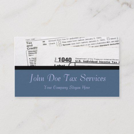 Tax Preparer Federal Form Business Card Zazzle