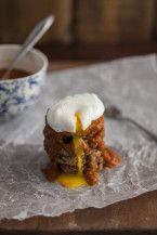 Quinoa Patties with Harissa and Poached Eggs