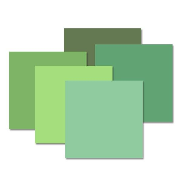 Shades Of Green Designer Cardstock Paper Pack 10 Pk The Shades