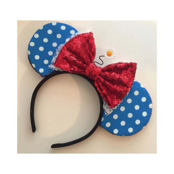 Cute Vintage Classic Minnie Mouse Baby Ears