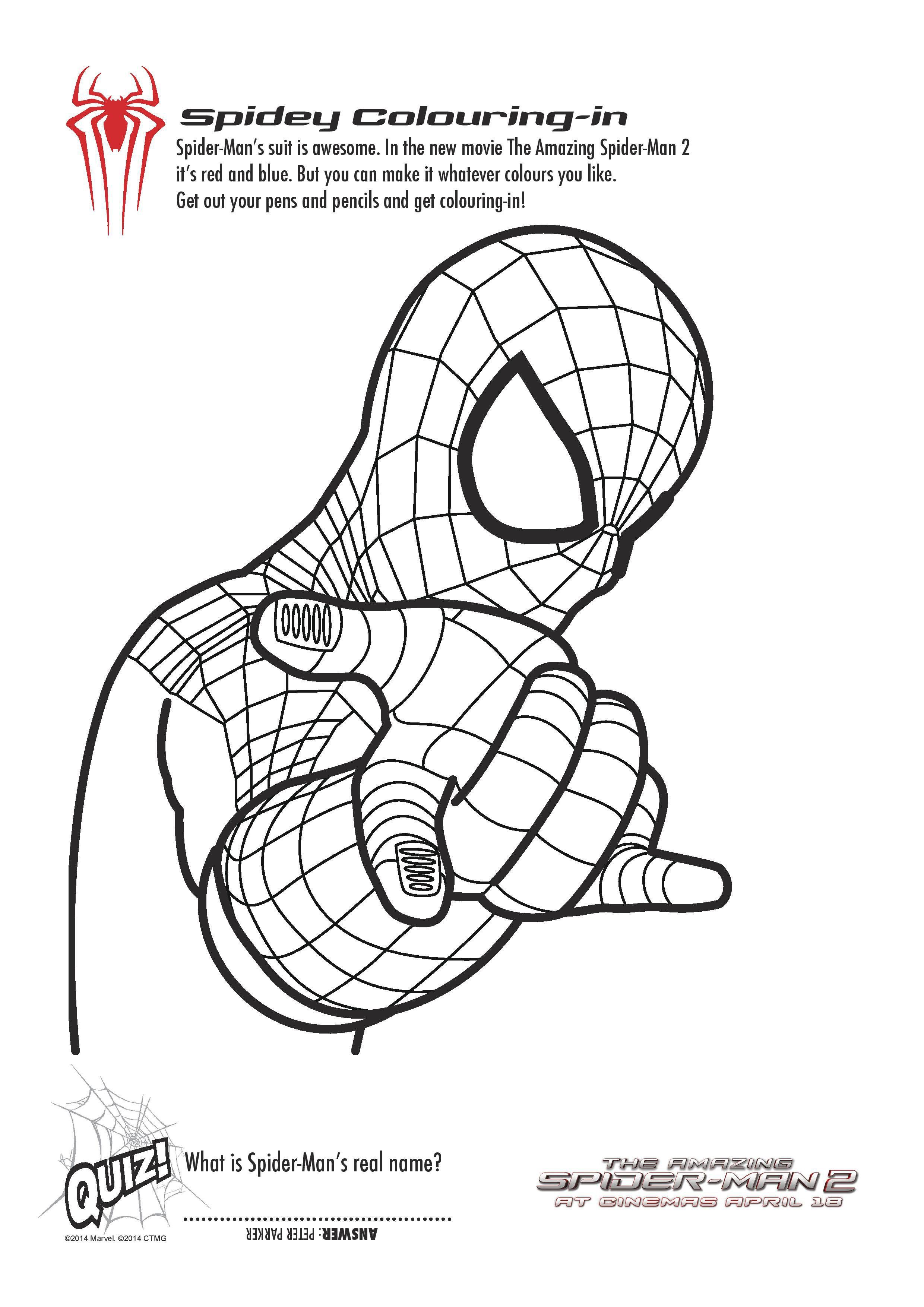 Free Printable Spiderman Colouring Pages and Activity Sheets ...
