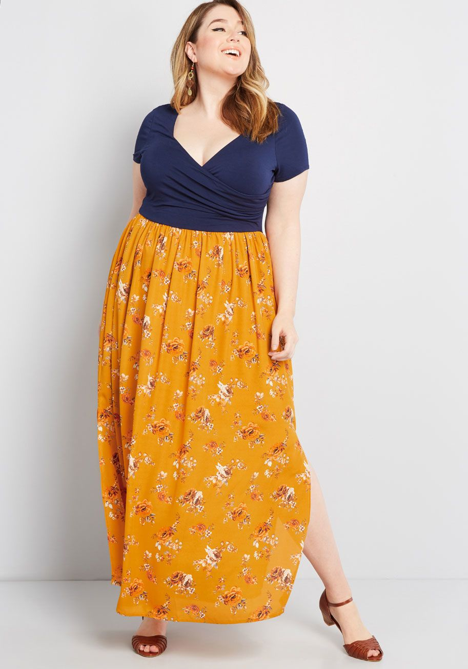 995d80de48 Boundless Enjoyment Maxi Dress - From its soft, comfortable knit top to its  statement-making floral skirt, this maxi dress from our ModCloth namesake  label ...