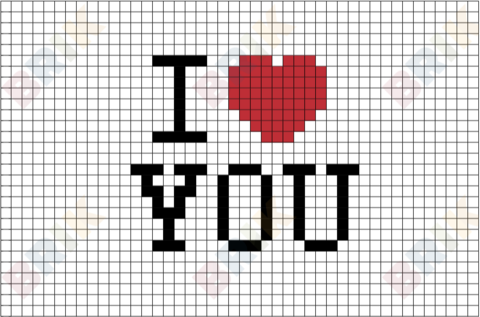 I Love You Pixel Art Pixel Art Pixel Drawing Pixel Art Design