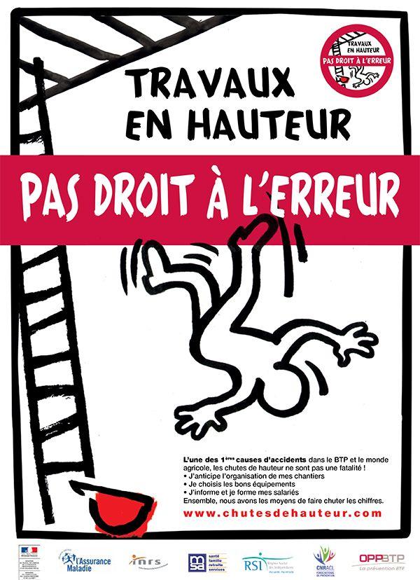 s u00e9curit u00e9  travail  accidents  chute  menace  france  2014