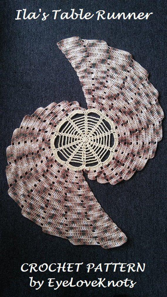 Crochet Pattern Ilas Table Runner Table Runner Crochet Pattern