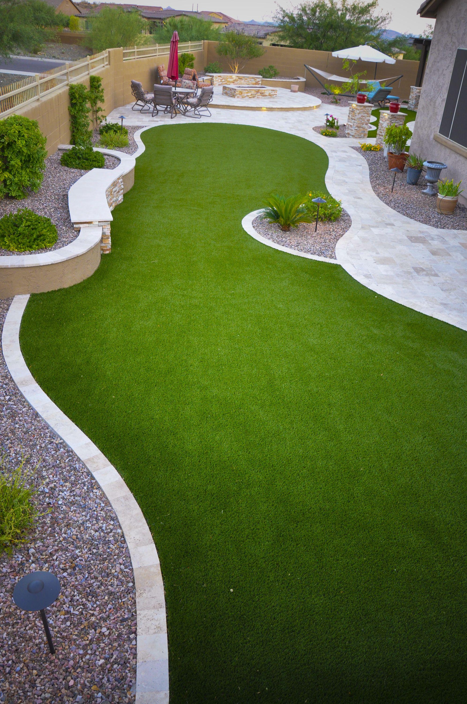 Artificial turf lawn in phoenix az backyard in 2020