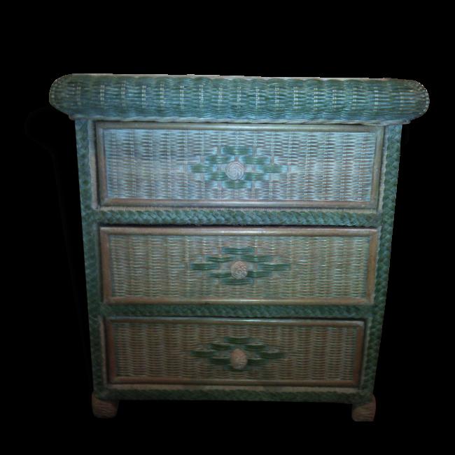 Commode En Rotin Vendu Par Val Broc Vintage Seez 73 Savoie Hauteur 80 Largeur 77 Profondeur 50 Etat Bon Etat Mat Deco Vintage Meuble Vintage