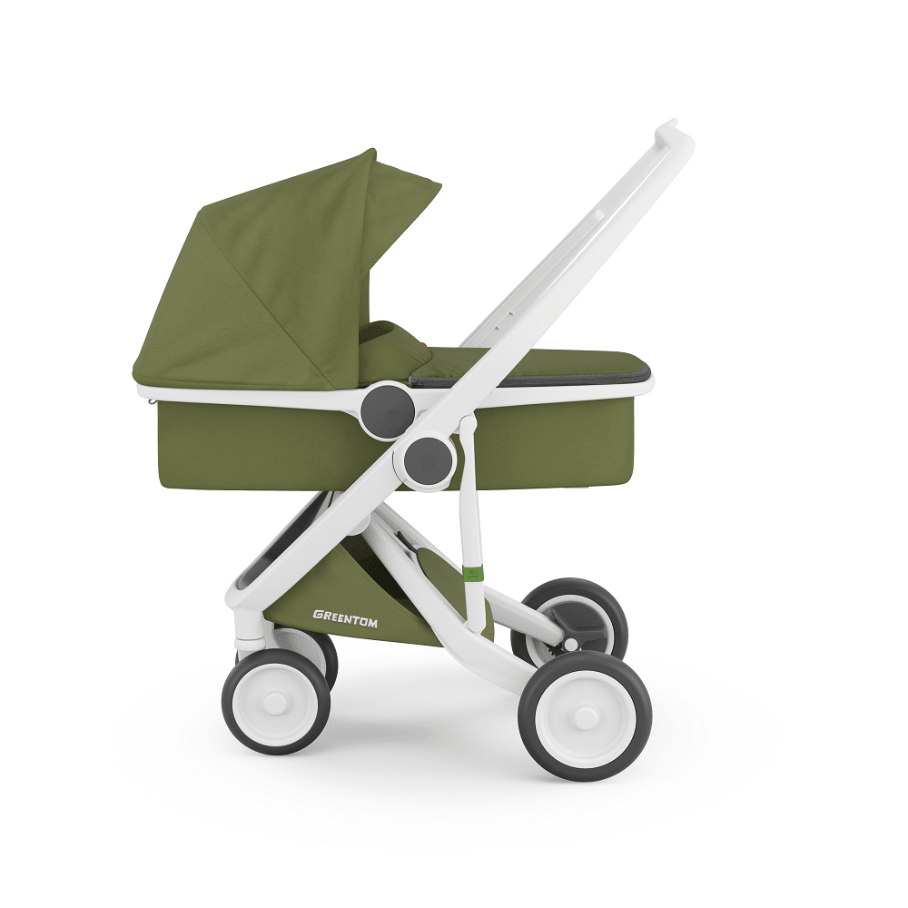 Greentom Carrycot Stroller with White Frame (With images