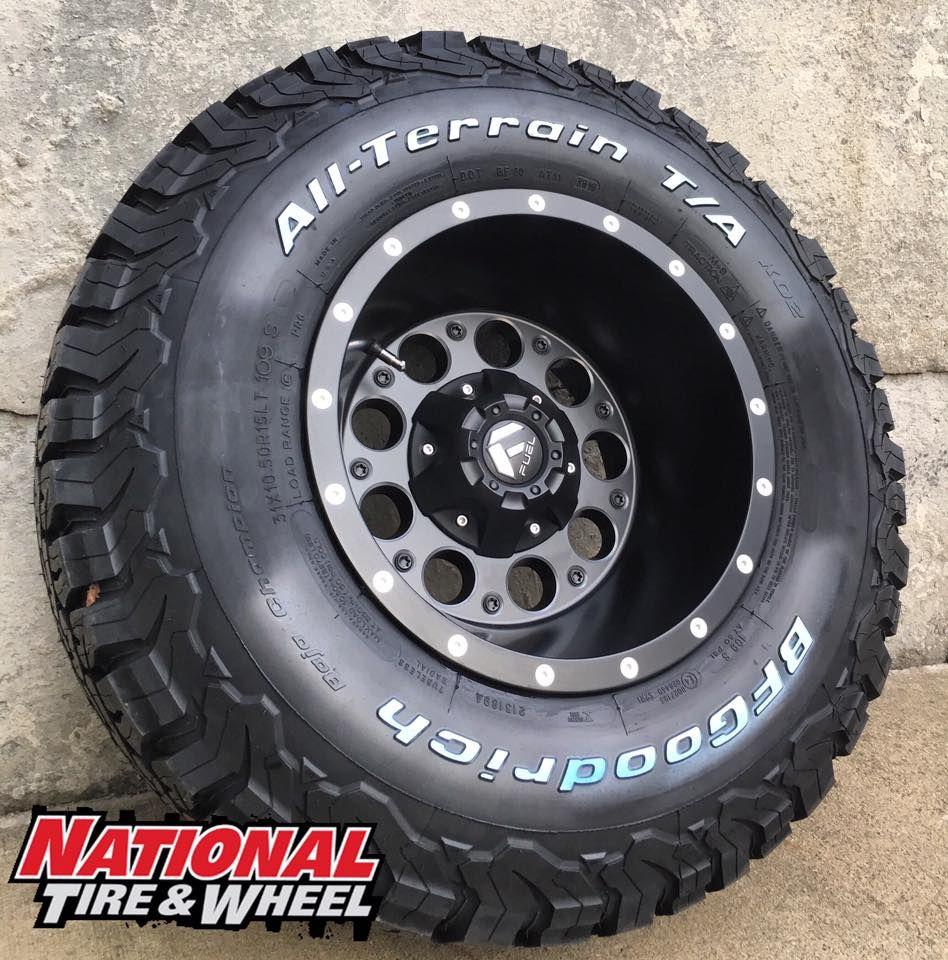 15X10 Fuel Offroad Revolver / 31X10.50R15 BFGoodrich Tires