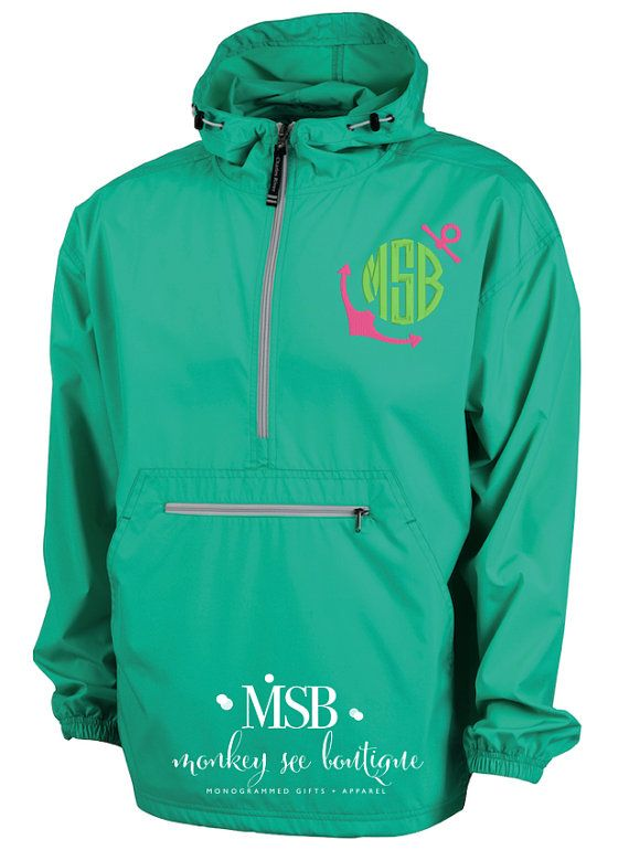 Lightweight Pullover Wind and Water-resistant Jacket - mint ...