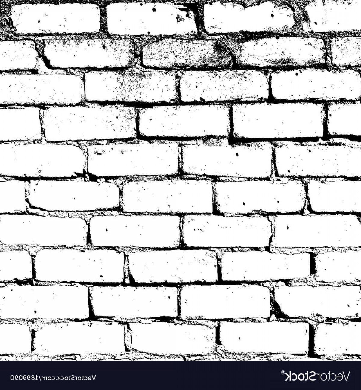 White Brick Wall Texture Vector Soidergi Brick Wall Drawing