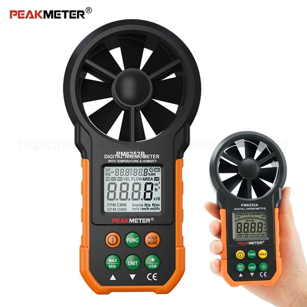 Handheld Digital Anemometer USB Multifunction Air Velocity