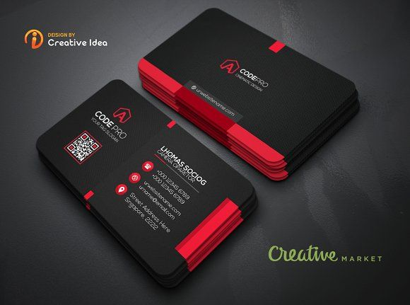 Black Business Card By Creative Idea On Graphicsauthor