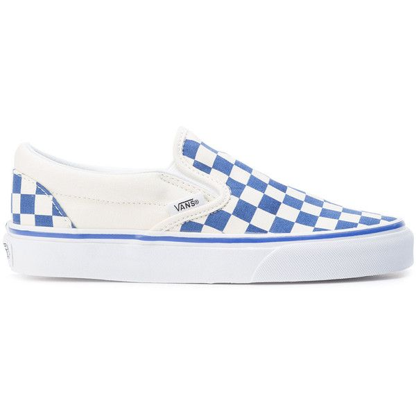Vans checkered slip on sneakers ( 78) ❤ liked on Polyvore featuring men s  fashion d04d71f0162c