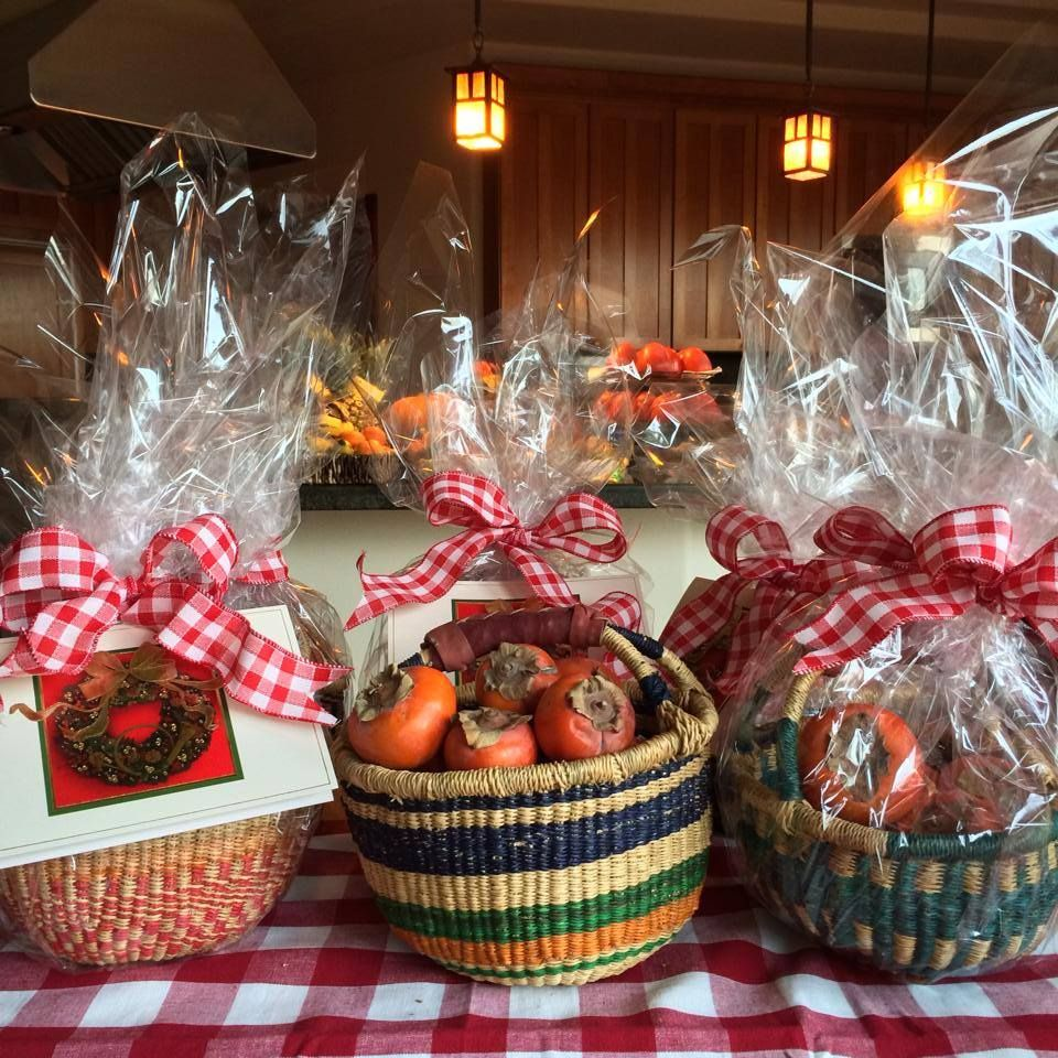 I will be giving these as Christmas gifts this year to family members! Baskets filled with persimmons, then wrapped them like a present  aren't they super cute!? Give the gift of good health!