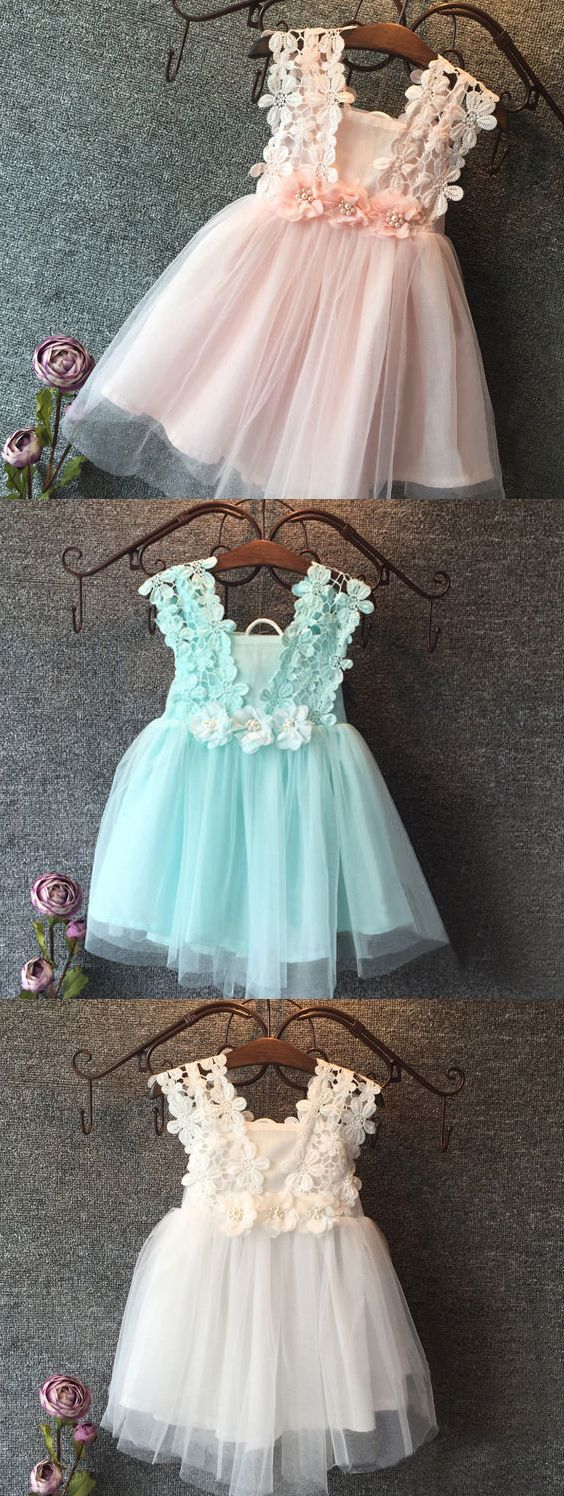 Girls wedding dress  New Baby Girl Party Dress Lace Tulle Flower Girls Wedding Dresses