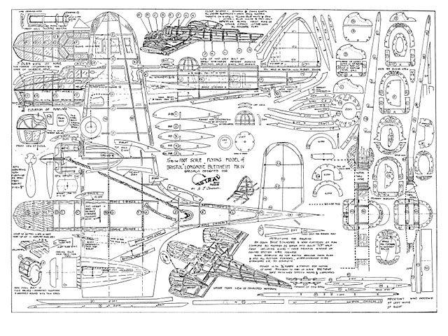 Bristol blenheim mkiv 59 balsa wood model airplane plans bristol blenheim mkiv 59 malvernweather Gallery
