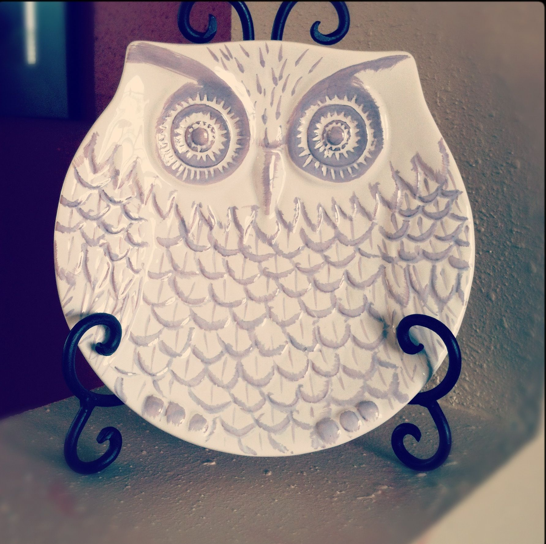 Hobby lobby decorative owl plate nothing but owls pinterest