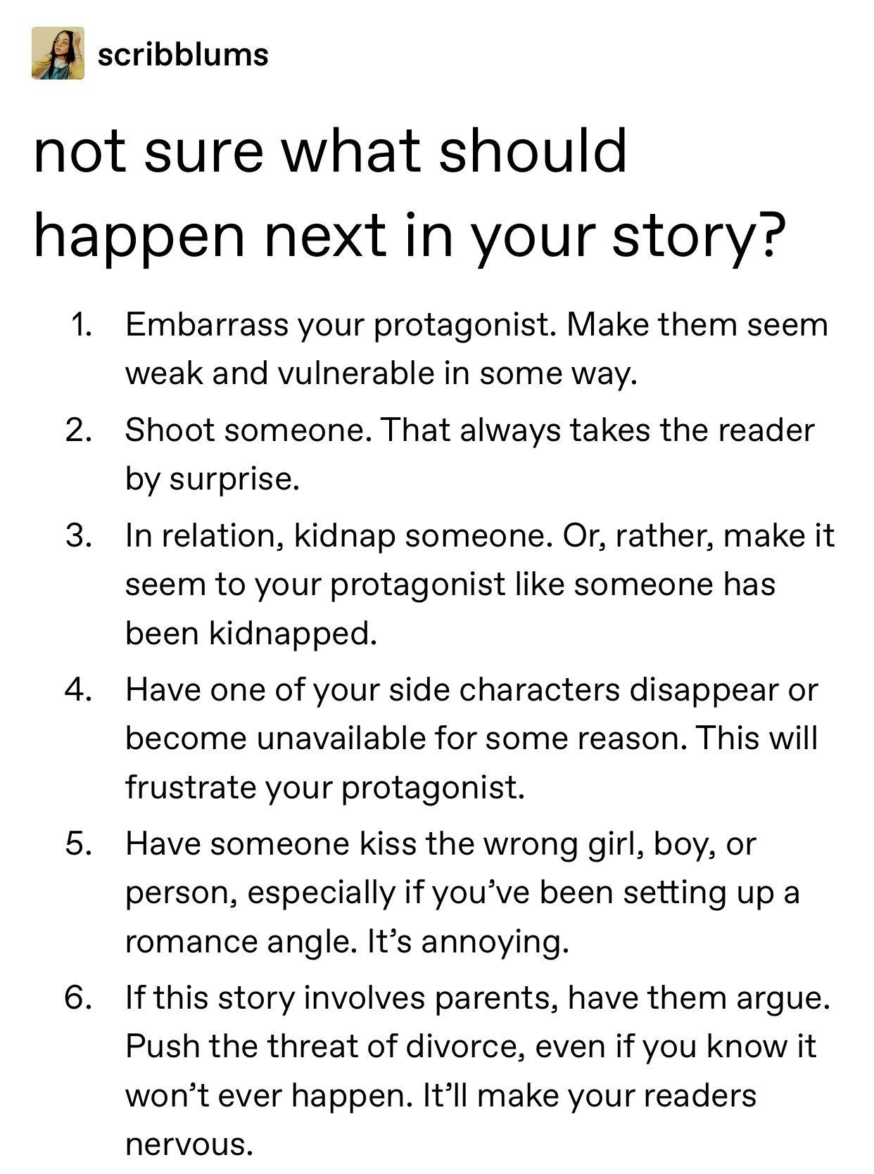 Not Sure What Should Happen Next In Your Story Writingprompts In