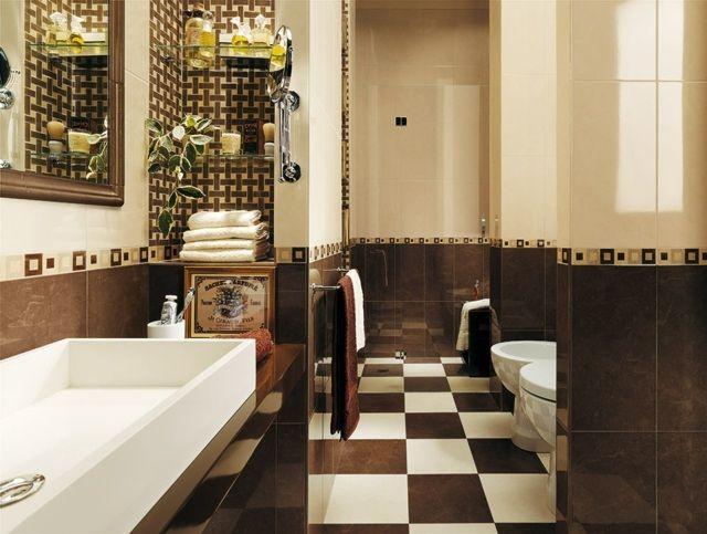 Korridor Innendesign Badezimmer Fliesen in hellem Beige und