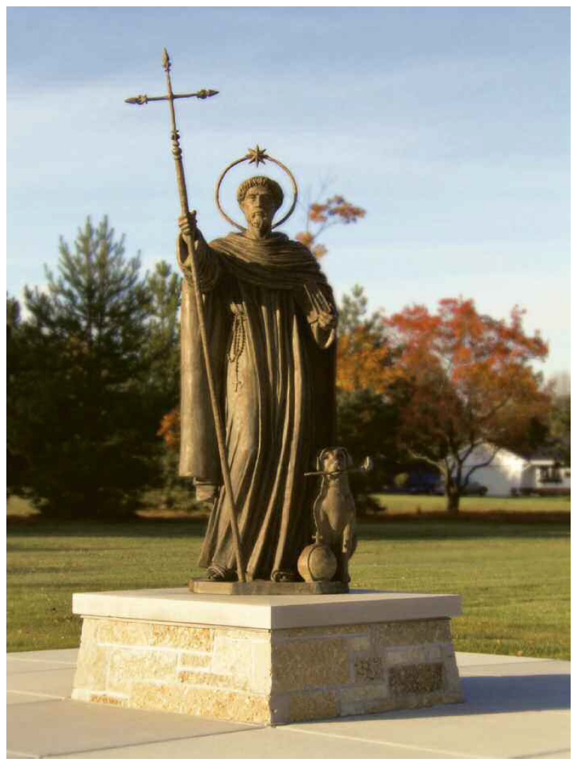 New Cast Bronze, Statue St. Dominic, Prayer Gardens of St. Dominic ...