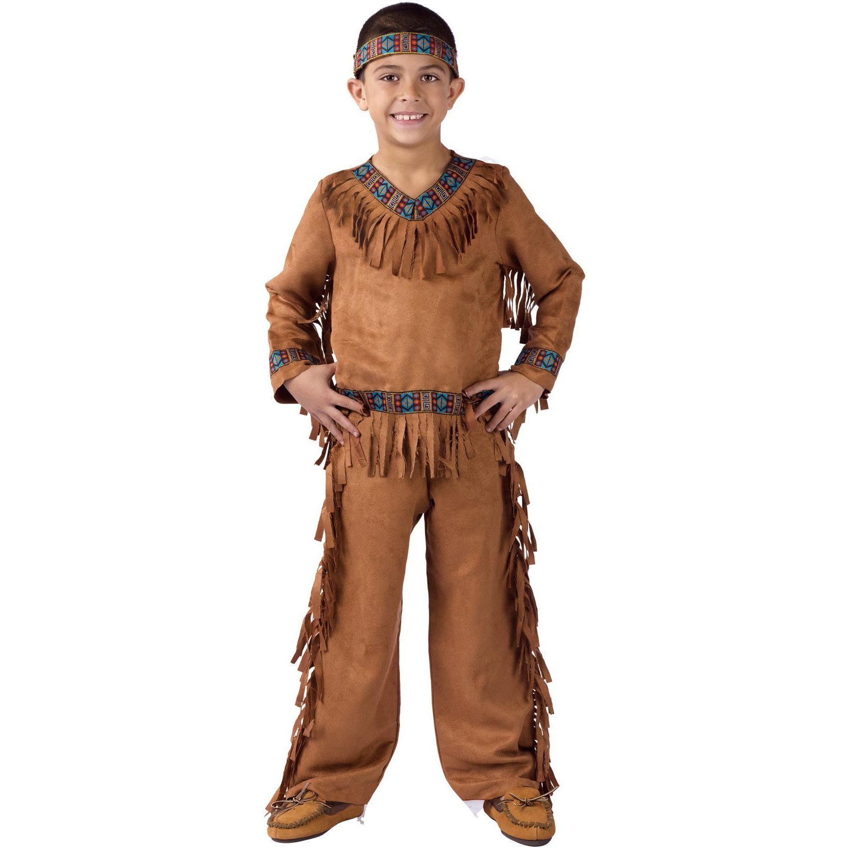 Native American Warrior Brave Indian CHILD BOYS Costume Size S Small 4-6 NEW