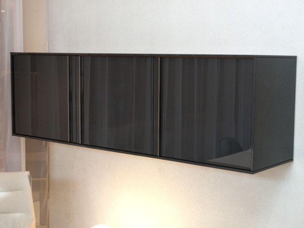 Molteni C Pass Word Wall Mounted Storage Unit Gloss Anthracite