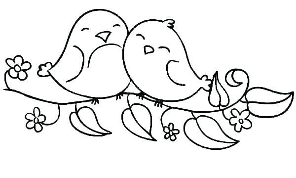 Coloring Pages For Birds Cute Bird Coloring Pages Cute Bird Bird Coloring Pages Love Coloring Pages Bird Template