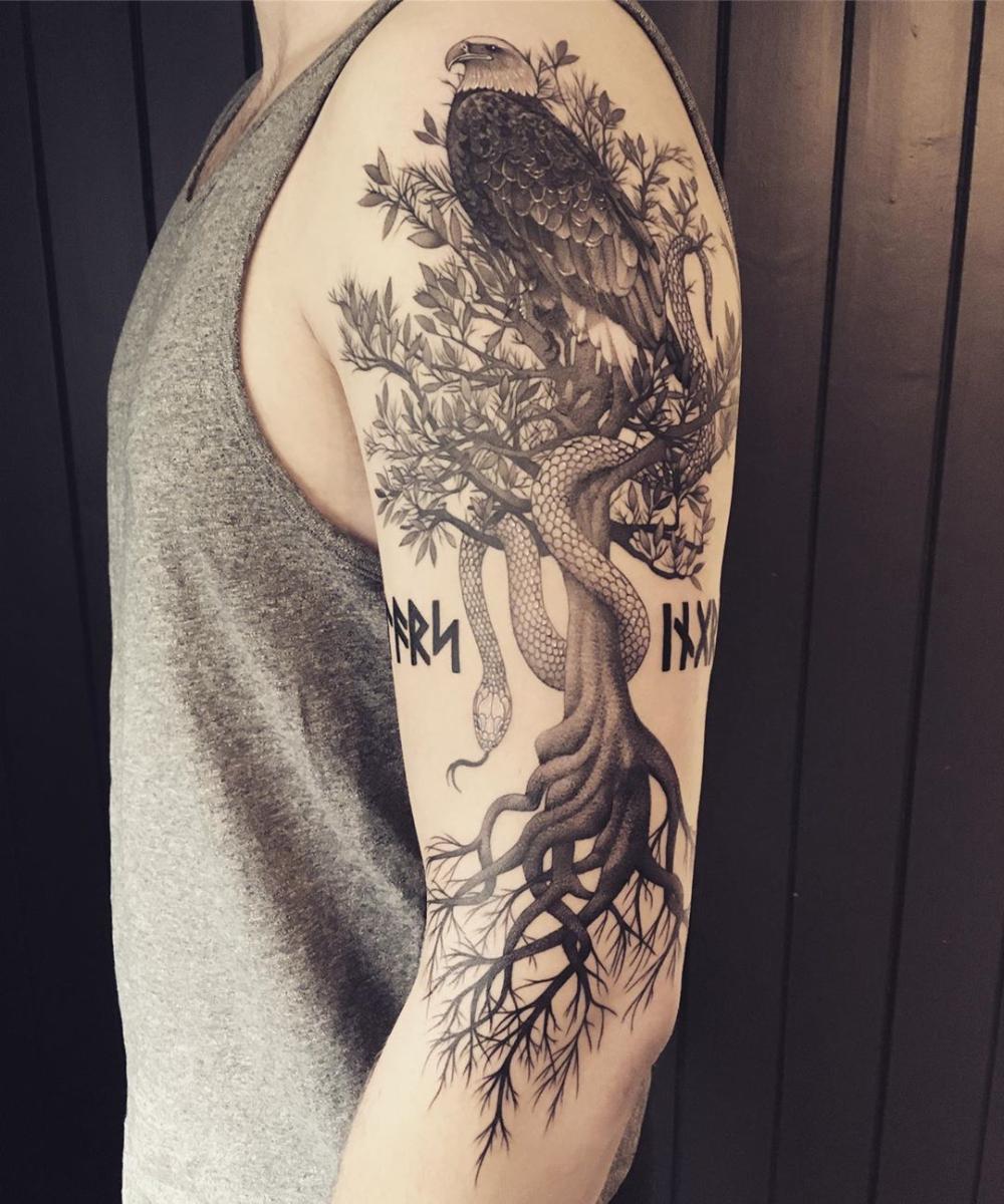 Top 50 Best Yggdrasil Tattoo Ideas 2021 Inspiration Guide Norse Mythology Tattoo Designs Yggdrasil Tattoo Norse Mythology Tattoo Mythology Tattoos