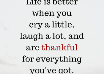 Life Quotes Life Is Better When You Cry A Little Laugh A Lot And Are Thankful For Everything You Ve Got Life Quotes Laugh A Lot Quotes