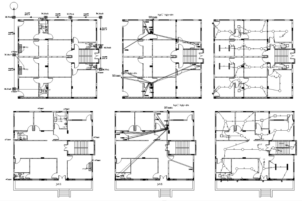 Residential Building Plumbing And Electrical Design