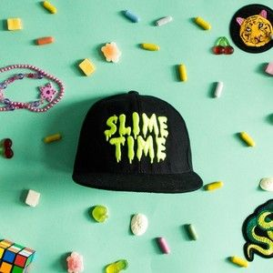 Slime Time Cap in Black by Slime Time