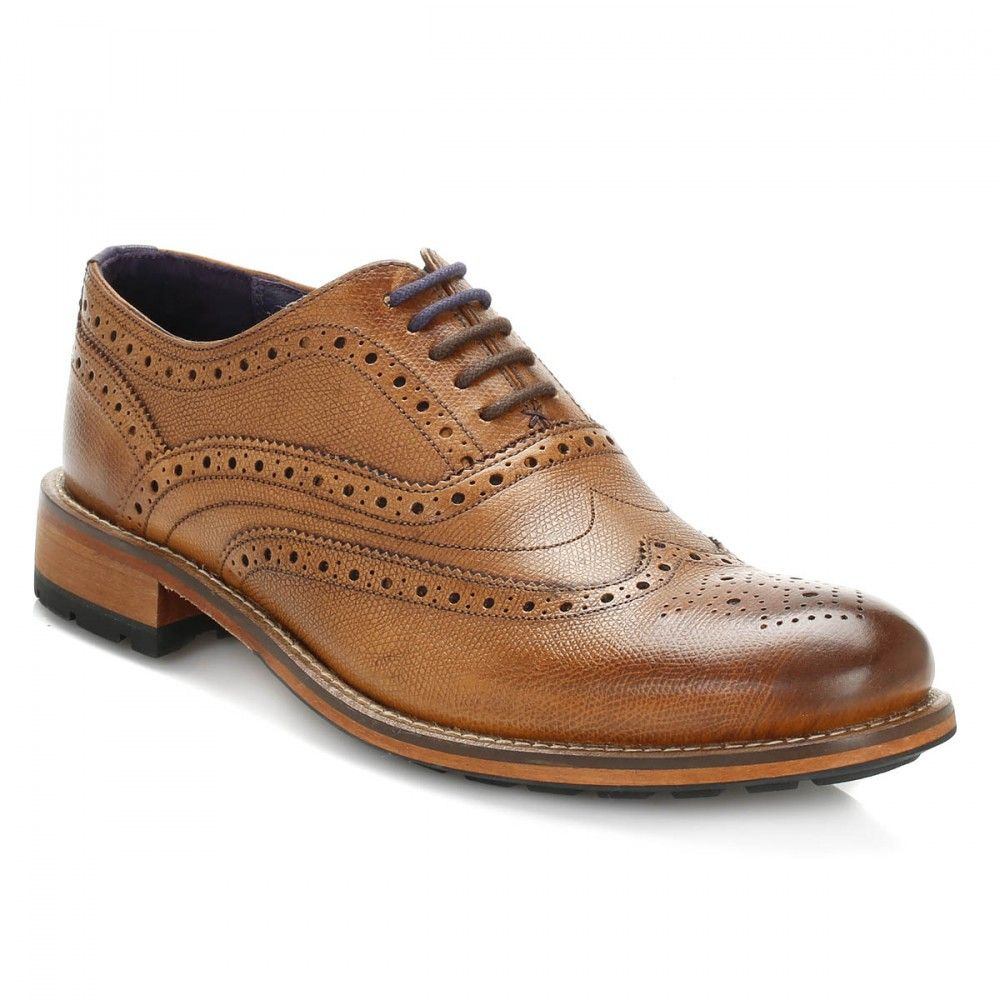 bf9e694aa3f5 Ted Baker Mens Tan Guri 8 Leather Brogue Shoes