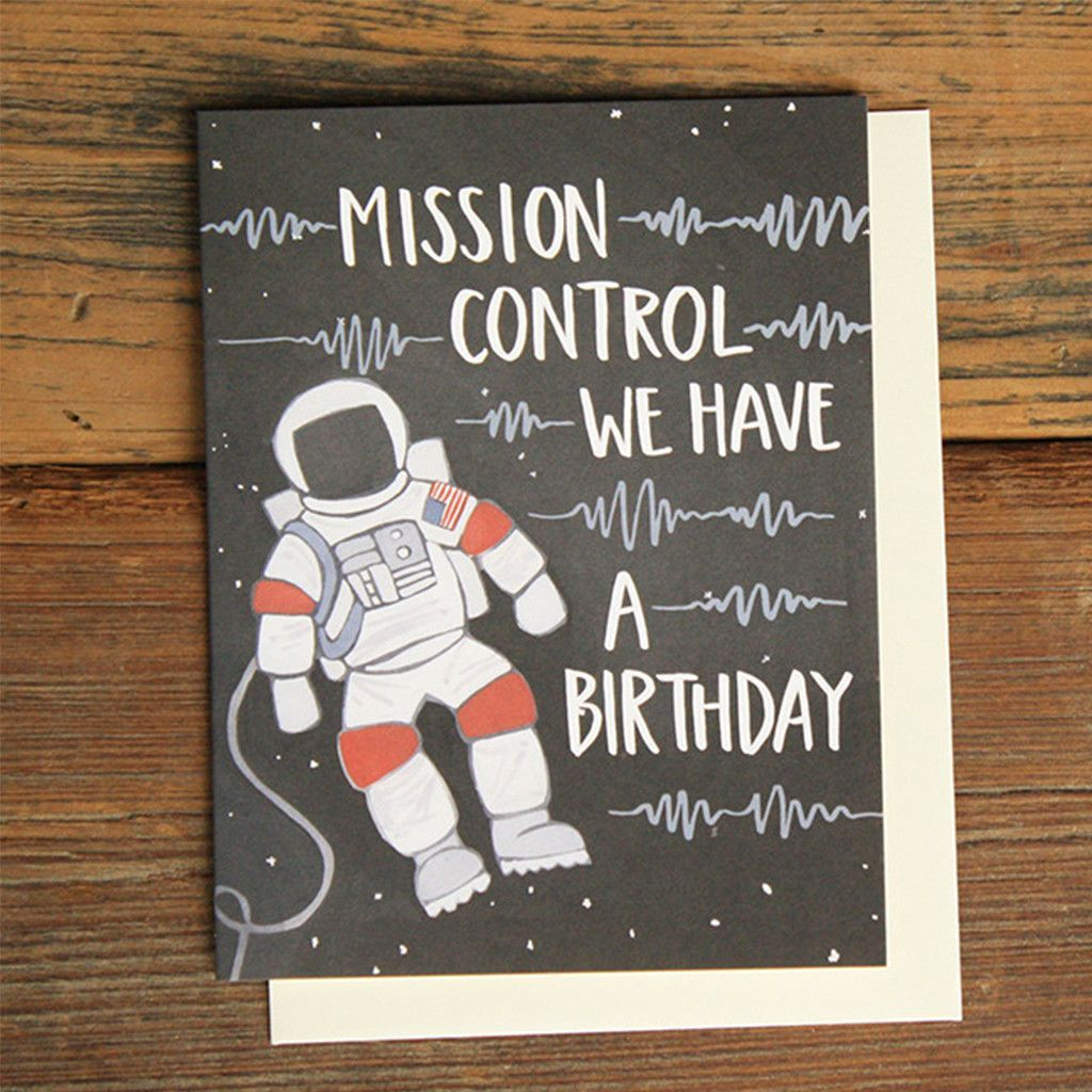 Astronaut BIrthday Card Birthday cards for boys, Happy