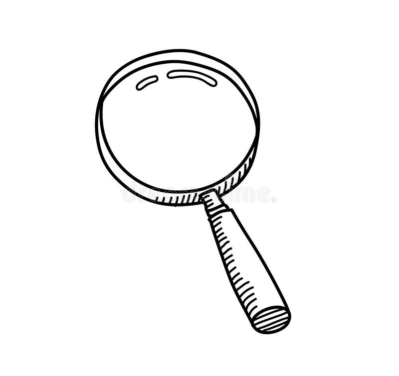 Magnifying Glass Doodle A Hand Drawn Vector Doodle Illustration Of A Magnifying Affiliate Doodle Magnifying Glass Hand Drawn Vector Illustrations Glass