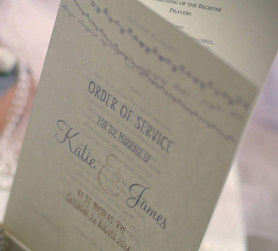 Celebrating Love Wedding Order Of Service