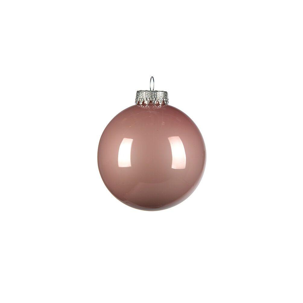 Weihnachtskugel Opal Glanzend Glas D 8cm Altrosa Altrosa Weihnachtskugeln Opal