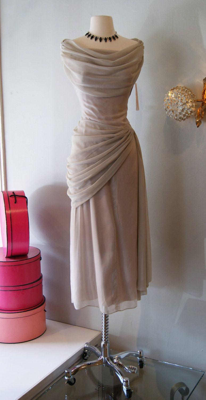 S dress vintage us peggy hunt grey goddess dress s