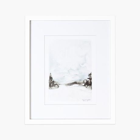 Framebridge irvine slim white gallery frame