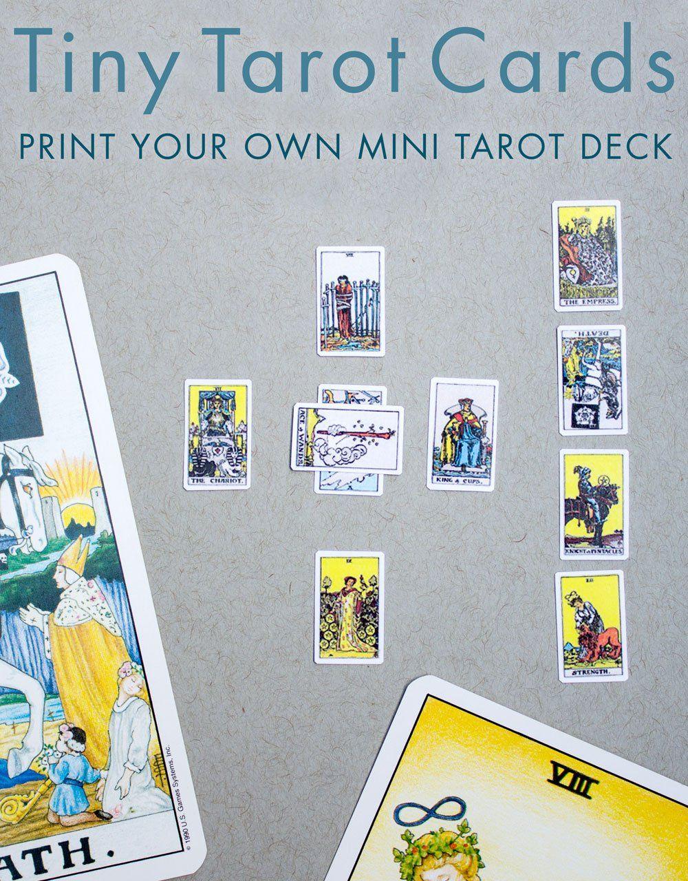 Printable miniature tarot cards diy tarot cards tarot
